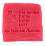 Werbeseife - DRK Fulda - Rosen-Seife