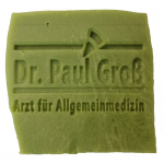 Werbeseife - Dr. Paul Groß - Oliven-Lorbeeröl-Seife