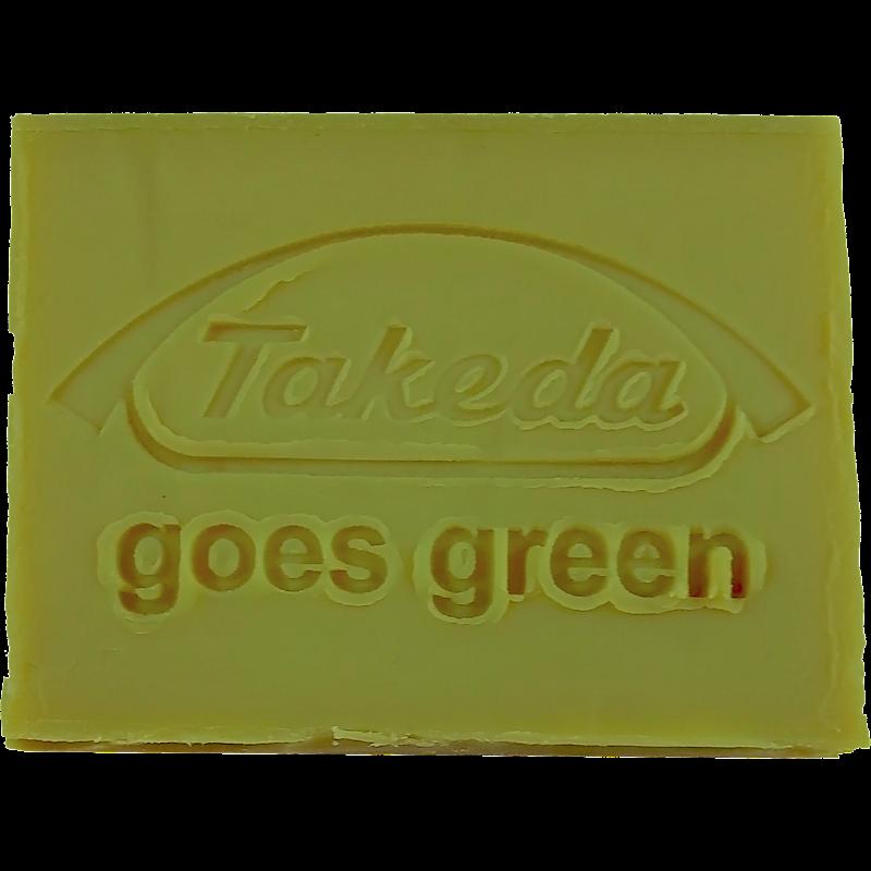 Werbeseife - Takeda - Oliven-Lorbeeröl